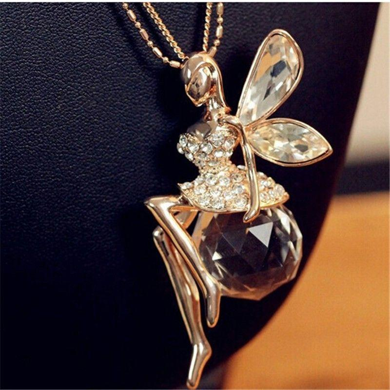 Crystal Angel Wings Necklace - Fashion Arks