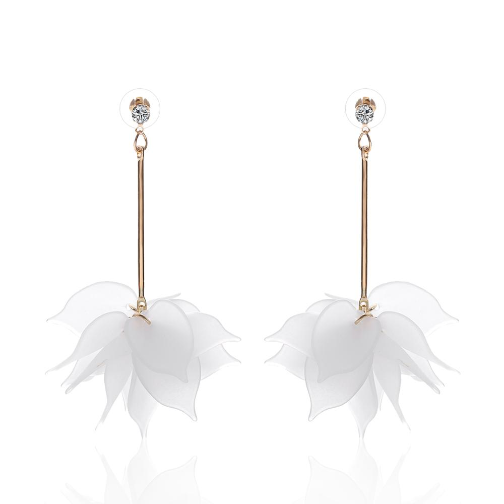 Elegant Crystal Flower Wedding Earrings - Fashion Arks