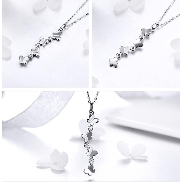 Posie Butterfly 925 sterling silver Necklace - Fashion Arks