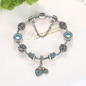 """Forever Love"" Charm Bracelet - Fashion Arks"