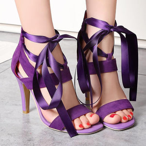 2018 - Summer Cross Tied High Heel Sandals - Fashion Arks