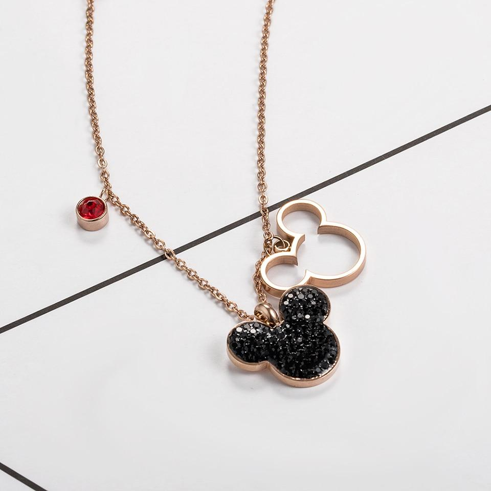 Trendy Mickey & Minnie Pendant Necklace - Fashion Arks