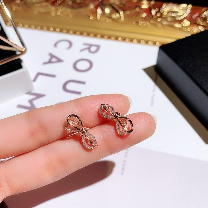 Classic Bow Knot Stud Earrings