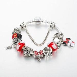 Mickey Minnie Charm Bracelet - Fashion Arks