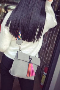 Loveliness- Tassel Shoulder Leather Bag - Fashion Arks