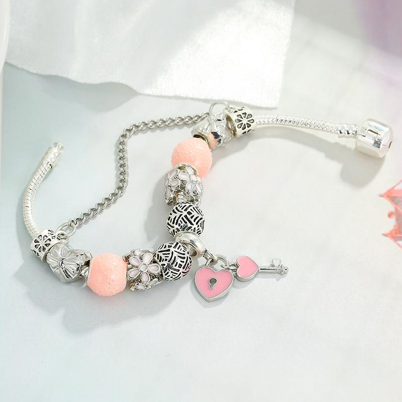 Heart Lock Key Charm Bracelet - Fashion Arks