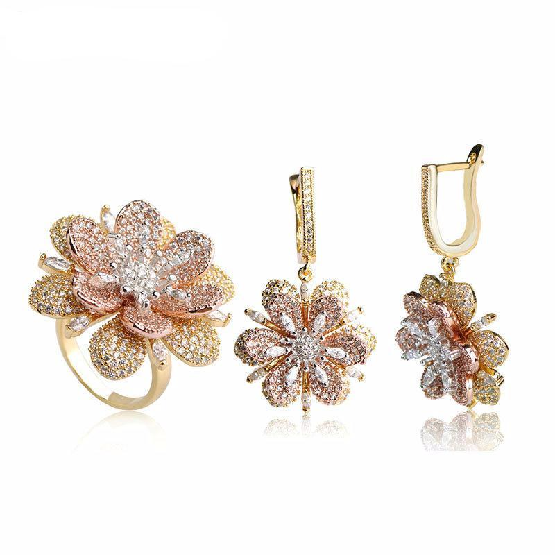 Elegant Flower Drop Earrings - Fashion Arks