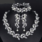 Simulated Pearl Bridal Jewelry Necklace For Women