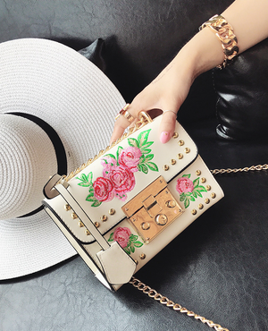 Women Embroidery Flower Leather Bag. - Fashion Arks