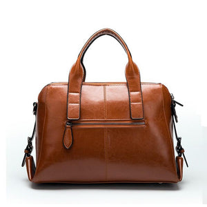 Luxury Genuine Cow Leather Hand Bag - Fashion Arks