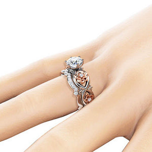 Flower Couple Rings - Fashion Arks