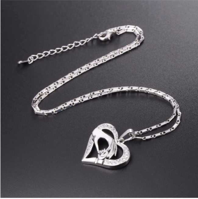 Mom Baby Hand in Hand Necklace - Fashion Arks