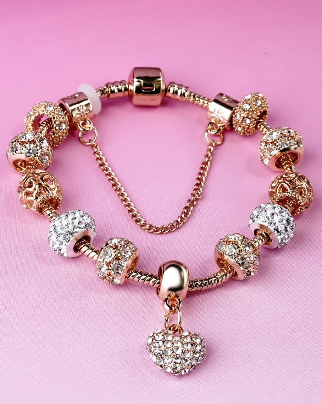 Myla - Gold Plated Charm Bracelet - Fashion Arks