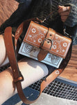 Clara - Vintage Flower Leather Bags - Fashion Arks