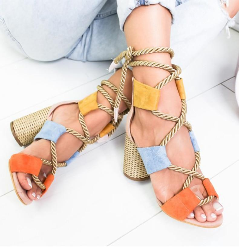 Sandals Lace Up Summer Shoes - Fashion Arks