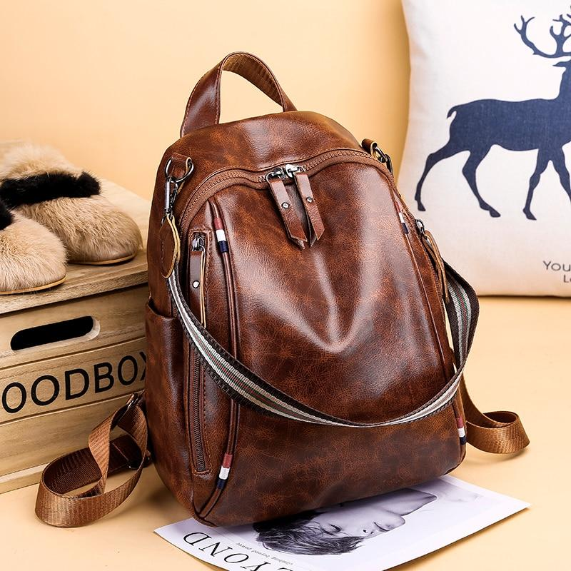 CHLOE - Multipurpose Leather Bagpack