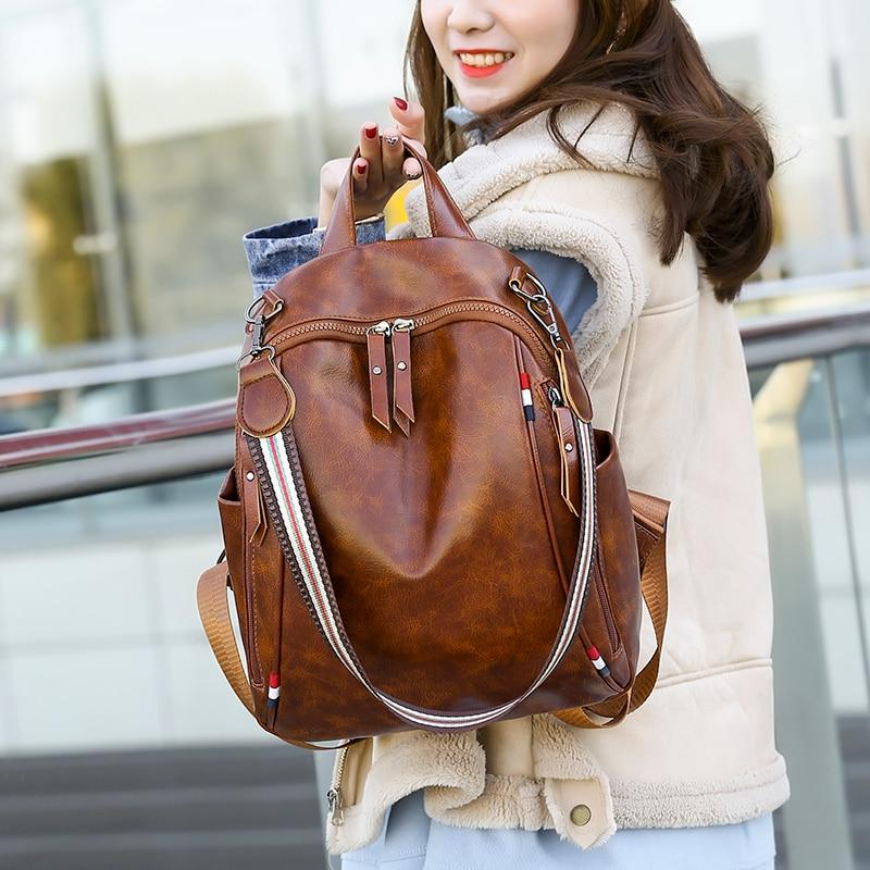 CHLOE - Multipurpose Leather Bagpack - Fashion Arks