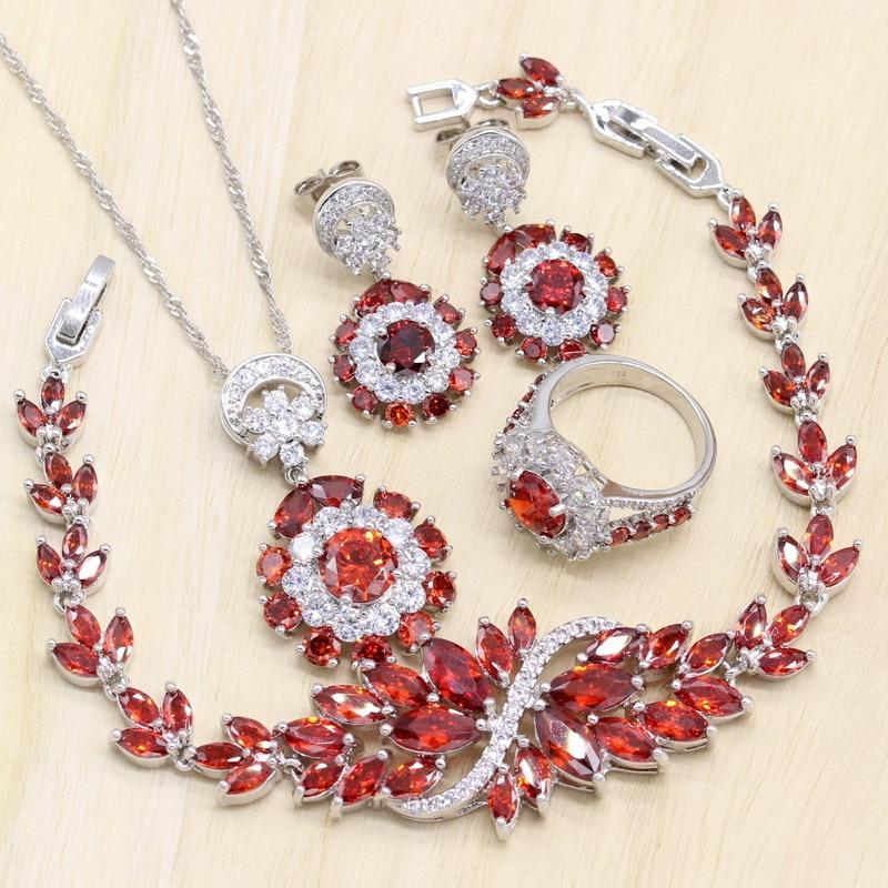 Rose-Red Zircon jewelry sets - Fashion Arks