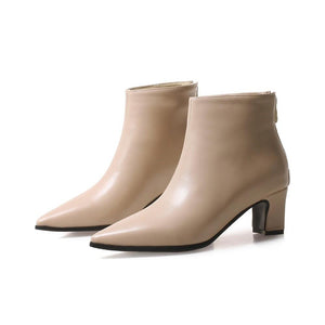 Armenia-Square Heel  Ankle Boots - Fashion Arks