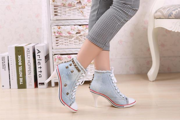 Gorgeous High Heels Canvas Shoes - Fashion Arks