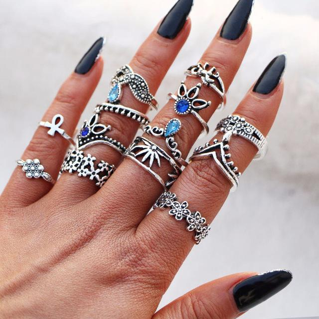 Bohemian Flower Ring Sets - Fashion Arks