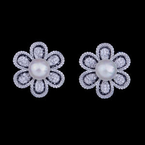 Flower Pearl Earring - Fashion Arks