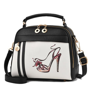 Cartoon Printing Leather Bag - Fashion Arks