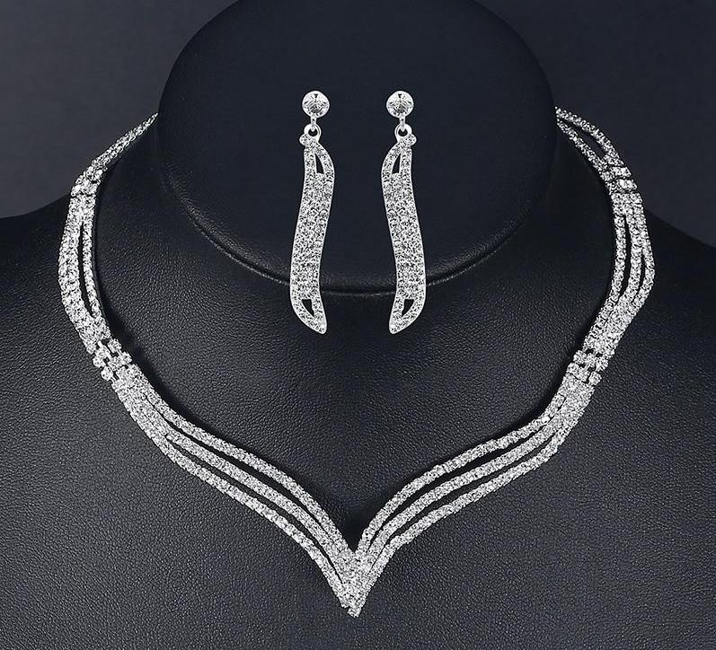 Crystal Bridal Jewelry Set - Fashion Arks