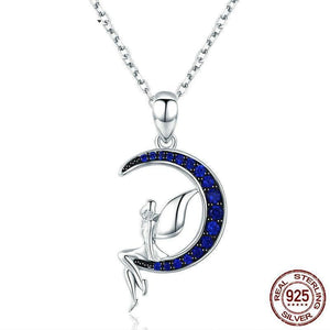MOON 925 Sterling Silver Necklace - Fashion Arks