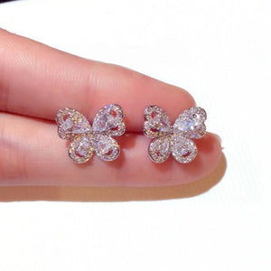 Glittering Butterfly Earrings - Fashion Arks