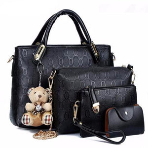4 piece set Luxury Leather Women Messenger Hand Bag. - Fashion Arks