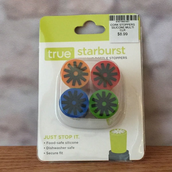 STARBURST SILICONE CORK STOPPERS