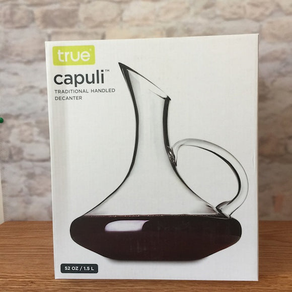 CAPULI DECANTER 52 OZ WITH HANDLE BY TRUE
