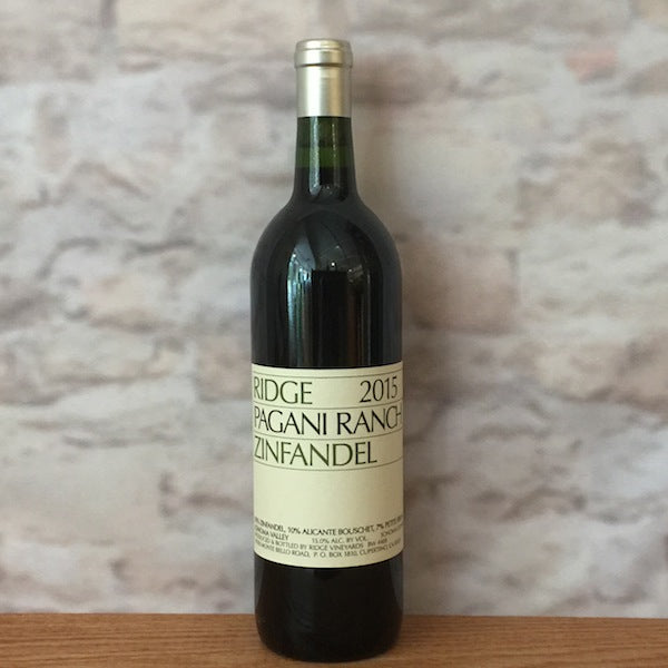 RIDGE ZINFANDEL PAGANI RANCH 2015