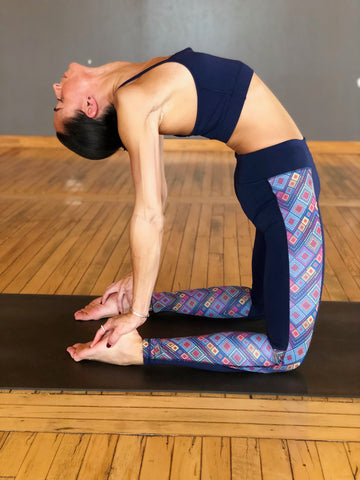 womens navy yoga legging