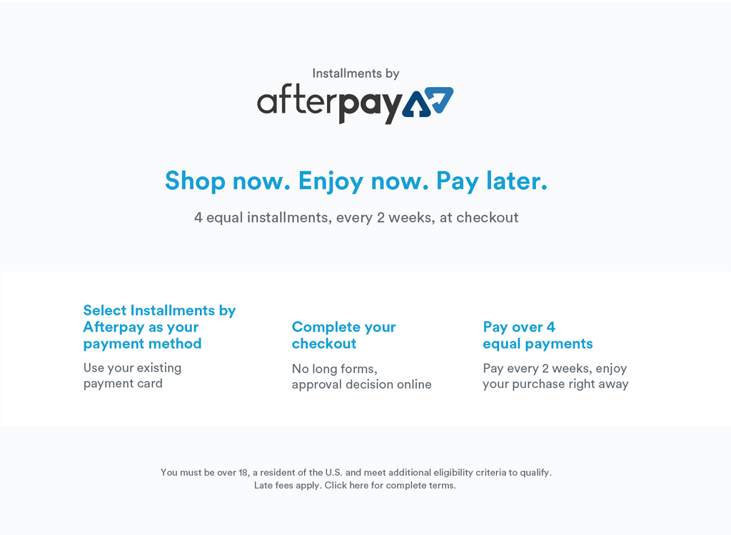 Interest Free Payments With AfterPay
