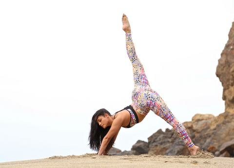 Womens yoga legging and top