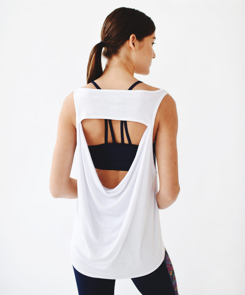 Joriki Yoga Grey Oversized Drape Back Tank - Available in 2 Colors Women's Tanks