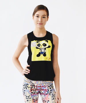 Joriki Yoga Graffiti Panda High Back Tank - Available in 2 Colors Tops