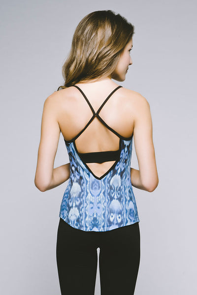 Strappy Racerback Tank - Cool Bukhara