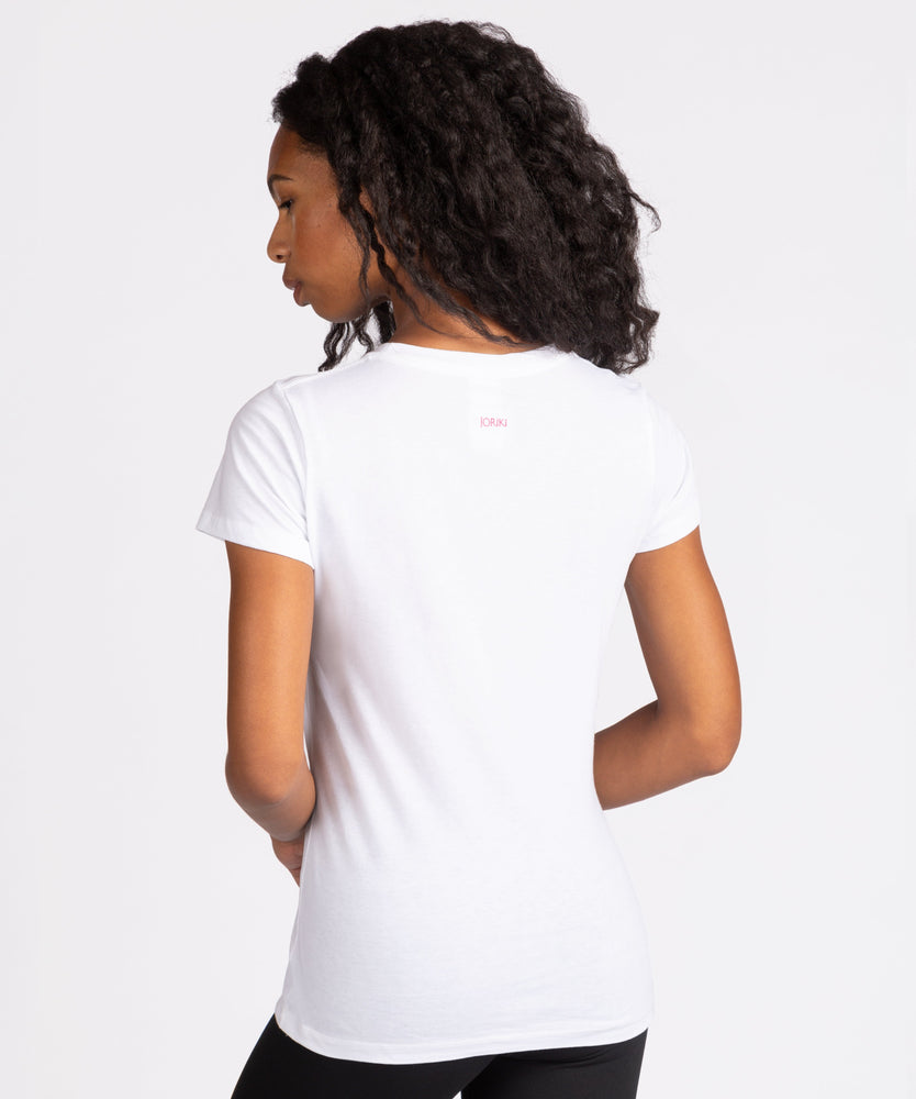Joriki Yoga Embroidered Mantra Tee - Available in 3 Options Graphic Top