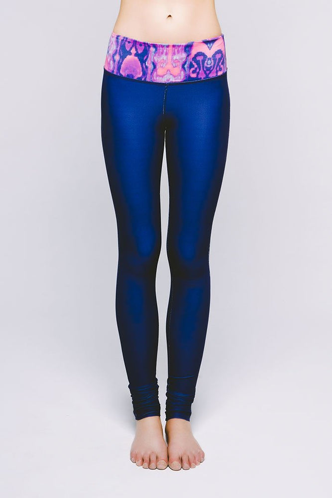 Joriki Yoga Essential Legging - Vibrant Bukhara Midnight Navy Leggings