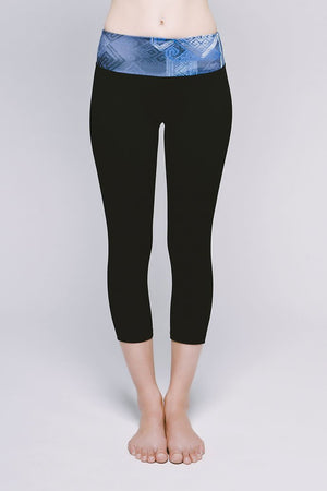 Joriki Yoga Essential Cropped Legging - Cool Kushutara/Jet Black Leggings