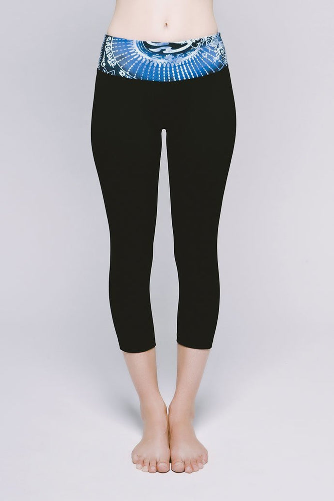 Essential Cropped Legging - Cool Cirebon/Jet Black