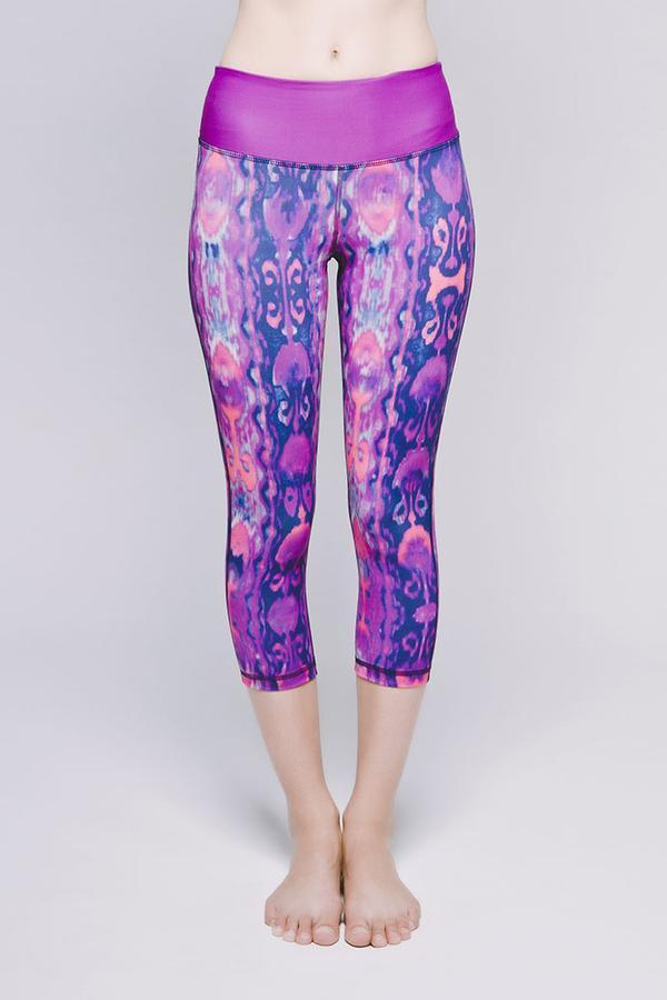 Joriki Yoga Essential Cropped Legging Printed - 4 Color Options Available Leggings