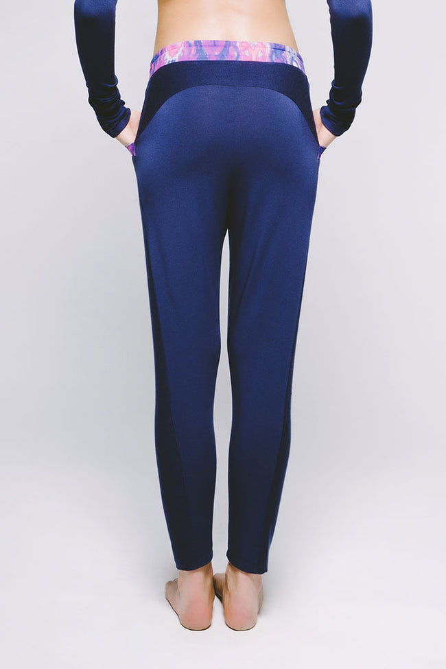 Everyday Slouch Pant - Vibrant Bukhara/Midnight Navy