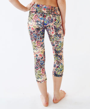 Joriki Yoga Abstract Floral Crop Leggings