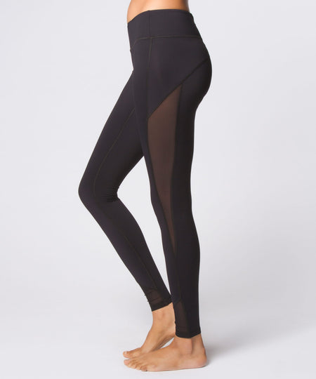 Essential Cropped Legging - Cool Kushutara/Jet Black