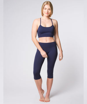Joriki Yoga Navy Strappy Bra Sports Bras