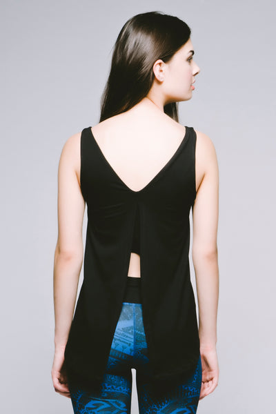 Hi-Lo Double-Layer Tank - Jet Black